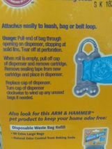 Arm & Hammer BONE Dog Waste Dispenser and Disposabl Waste Bags 30 count NEW!- image 6