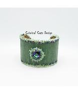 """Swarovski Rivoli Bracelet Cuff in Mint Green """"Kaluna Island Green"""" - $145.00"""
