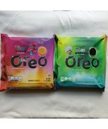 Oreo Trolls World Tour Limited Edition Cookies 1 Pack Each Green and Pin... - £16.69 GBP