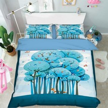 3D Tree Animals Bed Pillowcases Quilt Duvet Cover Set Single Queen King Size AU - $90.04+