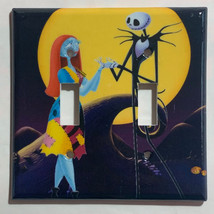 Nightmare Sally Jack front of moon Light Switch Outlet wall Cover Plate decor image 2