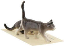 Hagen Renaker Miniature Cats Gray Walking and Crouching Figurine Set of 2 image 6
