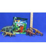 3 D Dinosaur Puzzle with Glasses & Figures Stego Allo Para Brachiosaurus... - $12.86