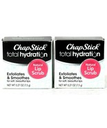 2 Count ChapStick 0.27 Oz Total Hydration Exfoliates Smooths Natural Lip... - $19.99