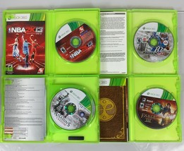Xbox 360 4 Game Lot NBA 2k13 Madden 13 Fable III Assassins Creed III Video Game image 2