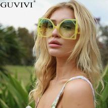 Square Oversized Sunglasses Women  Steampunk Vintage Sunglasses Fashion Retro Su