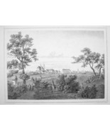 HUNGARY Szombathely View of Town City - 1870s Original Engraving Print - $30.22