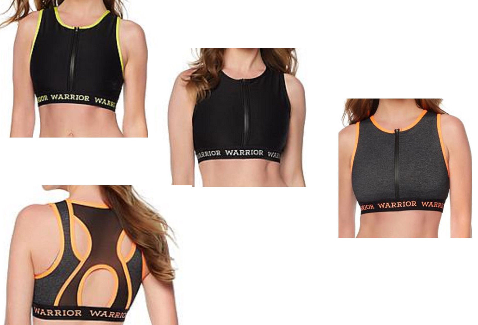 Primary image for Warrior by Danica Patrick Zip Up Midi Sports Bra