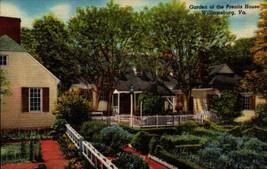 LINEN POSTCARD- GARDENS OF THE PRENTIS HOUSE, WILLIAMSBURG, VA  BK16 - $2.94