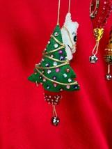 Vintage Christmas Hanging Mobile -  Felt Sequins Handmade Snowman Orname... - $35.64