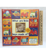 Photo Album Baby Book Keepsake Memory What Are Little Boys Made Of 50 Slots - $14.84
