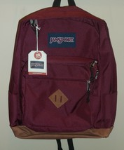 "JanSport City View Russet Red Boys Girls Backpack Bookbag 15"" Laptop Sle... - $39.59"