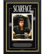 Al Pacino: Scarface - Framed Ltd Ed 183/183 Laser Etching - Facsimile Au... - $690.00