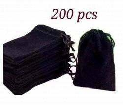 Velvet Wedding Pouches x200 Party Favor Jewelry Velvet Gift Drawstring T... - $60.94