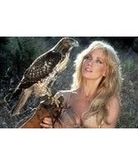 Tanya Roberts holds hawk on her arm 1984 Sheena Queen of the Jungle 12x1... - $19.95