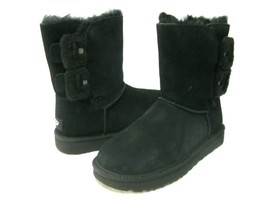 UGG BAILEY FLUFF BUCKLE WOMEN SHORT BOOTS SUEDE BLACK US 6 /UK 4 /EU 37 ... - $128.69
