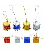 Christmas House Choose Either Mini Drum OR Gift Box Ornaments, 12-ct. Pack  - $2.00
