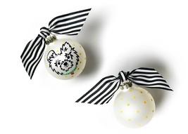 Coton Colors Pet Fluffy Dog Portrait Glass Christmas Ornament NEW IN BOX... - $9.41