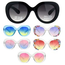 Girls Child Size Thick Plastic Round Butterfly Designer Sunglasses - $9.95