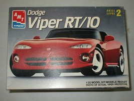 AMT ERTL DODGE VIPER RT/10 MODEL CAR KIT #6808 1/25 ORIGINAL BOX SKILL 2... - $18.46
