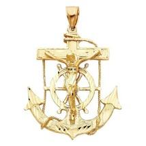 14k Yellow Gold Large Mariner's Cross Pendant - $1,492.00
