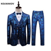 Men Suit 2019 blue Wedding Suits for Men Classic business Slim Fit mens ... - $136.50