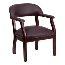 Flash Furniture Burgundy Leather Conference Chair with Accent Nail Trim - $133.20