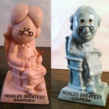 World's Greatest Grandma and Grandpa W & R Berries Co's 1970 Pink and Blue - $9.99