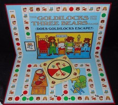 Vintage 1973 Cadaco Goldilocks & Three Bears Board Game & Spinner Only Parts - $11.30