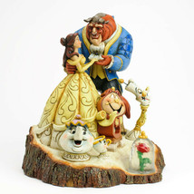 """7.75"""" Beauty - Beast Figurine Carved By Heart by Jim Shore Disney Traditions image 2"""