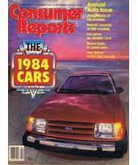 ORIGINAL Vintage 1984 Consumer Reports Magazine Autos Cars Issue - $14.84