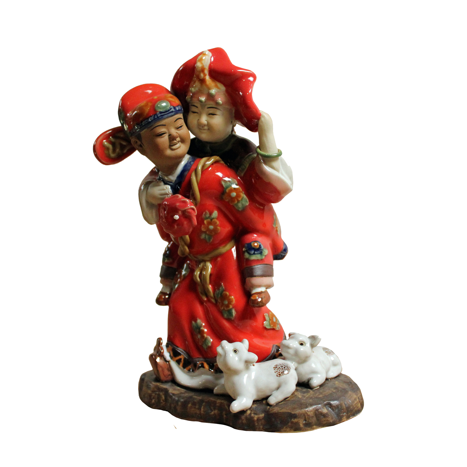 Chinese Ceramic Traditional Wedding Dressing Couple Figure ws310