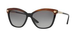 Nuovo Versace Mod: 4313 5180/11 Nero/Havana/Oro Medusa W/ Grigio Fumè 57mm - $184.19