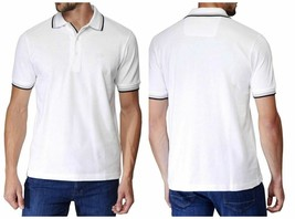 Hugo Boss Men's Premium Green Tag Sport Polo Shirt T-Shirt White 50198254