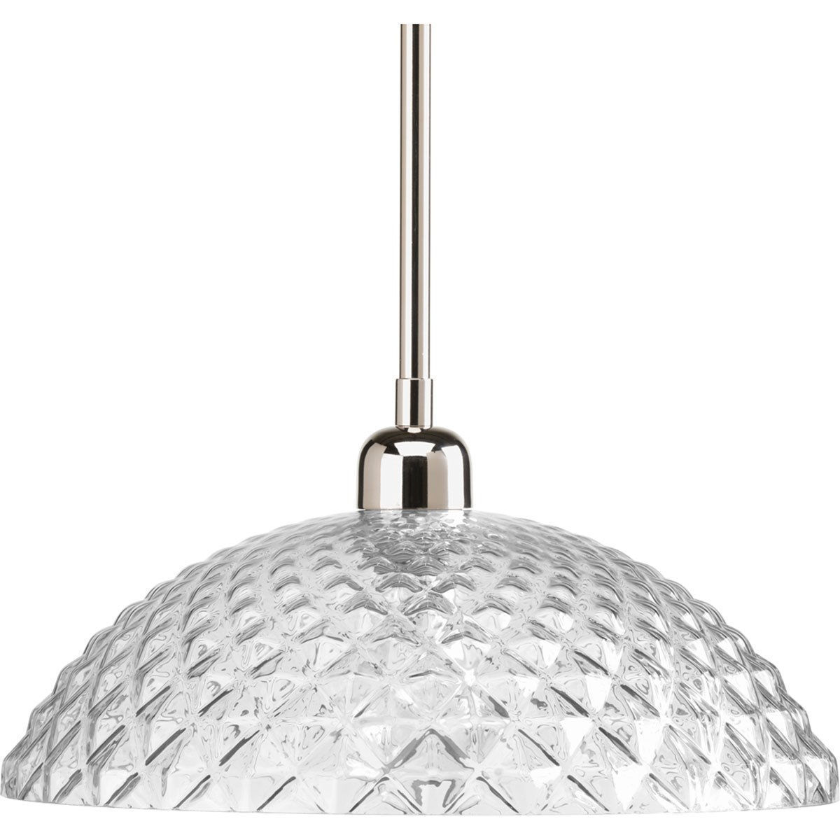Polished Nickel Finish Ceiling Pendant Fixture Light Progress Lighting P5115-104