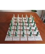 YOU PICK : Vintage Duncan Ceramic Glazed Offwhite & Green Medieval Chess... - $7.99
