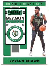 2019 Panini Contenders Basketball Card #42 Jaylen Brown - $2.10