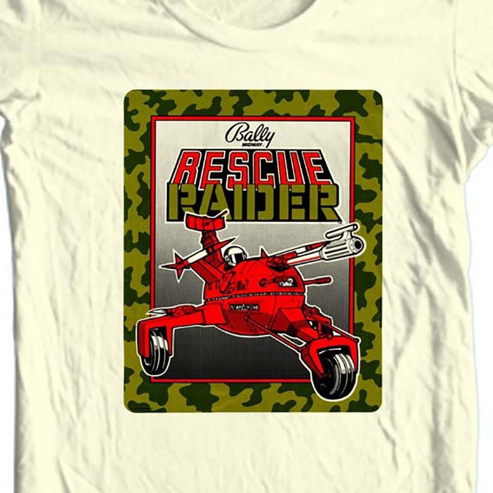 Rescue Raiders t-shirt Bally's vintage retro arcade video game tee free shipping