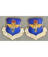 Air Training Command ATC USAF DUI Unit Insignia Crest Enamel Pinback Pair - $21.78