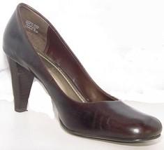 "FRANCO SARTO """"Dublin"""" Brown Leather PUMPS HEELS WOMENS  Size 8.5 M (17... - $18.49"