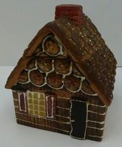 """Vintage Cookie Jar Ceramic Gingerbread House Made In Japan 8""""X7""""X6.5"""" En... - $50.00"""