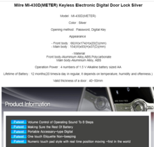 MILRE Triple MI-430D Digital Keyless Electronic Door Lock Keypad Entry image 3
