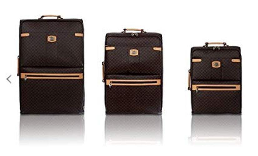 Rioni Signature Spinner Luggage Set - 3 piece Set  Brown