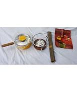 Vtg Ernest Sohn Creations Fondue Set w/ Forks Etco Yellow MCM Original P... - $118.79