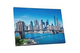 "Pingo World 0901Q2WOAX4 ""New York Brooklyn Bridge Skyline"" Gallery Wrapp... - $138.55"