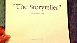 The Storyteller by  Norman Rockwell Plate with Box ( Knowles ) AA20CP2176 image 6