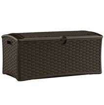 Deck Box Outdoor Storage Bin Lockable 72 Gallon... - $95.03