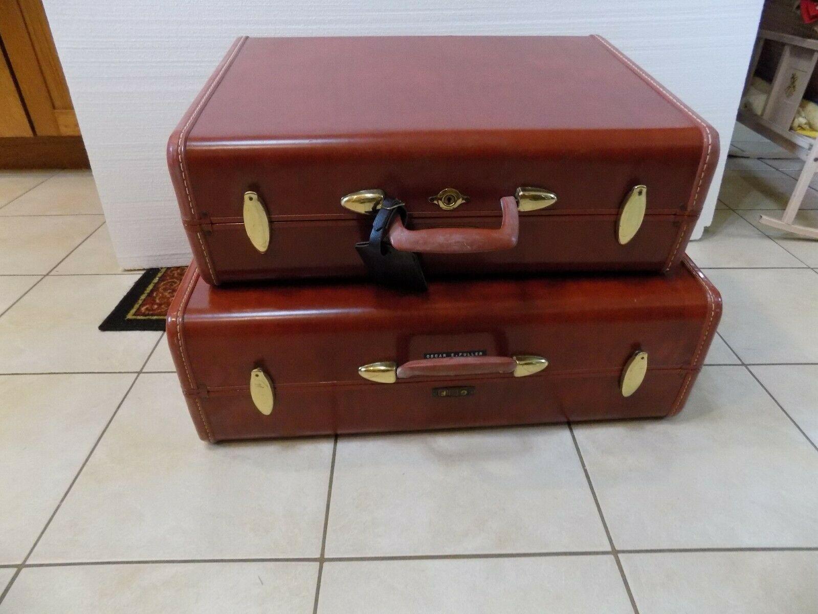 "Vitg Samsonite Shwayder Bros 24"" Hardcase Suitcase Home Decor End Table Night"