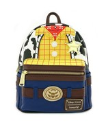 Loungefly Disney Pixar Toy Story 4 Woody Mini Faux Leather Backpack Bag ... - $88.76