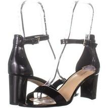 Nine West Pruce Ankle Strap Sandals 487, Black Patent, 9 US - £19.71 GBP